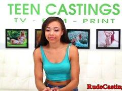 Casting latina teen gets hardfucked