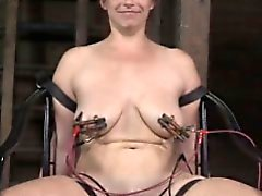 Redhead sub gets pussy electrosex with TT NT