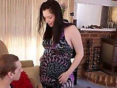 Pregnant aussie gets cum