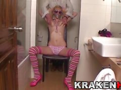 Krakenhot - Saggy tits blonde in a submission casting