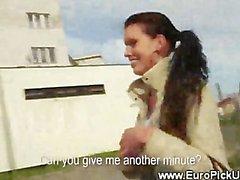 Euro teen amateur picked up on street