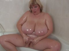 wet chubby mom juliana with monster boobs