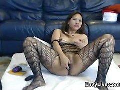 Asian Cam Fahişesi Masturbates