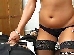 Hotel fuck of Big racked brunette Mariah Milano