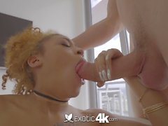 EXOTIC4K Black beauty Kendall Woods perfect pussy pounded