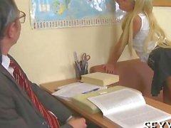 Sweet pleasuring for teacher