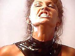 Godemichets lesbienne en latex de chaude plaisir glissant