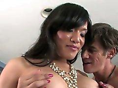 TS Jessica Foxx in intense bareback sex
