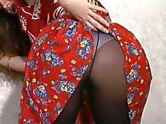 Beleza britânico em Pantyhose