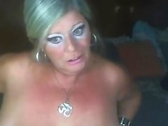 Blonde Mature Playing On WebCam