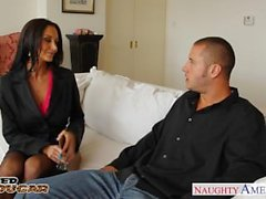 Busty cougar Ava Addams jump a big dick