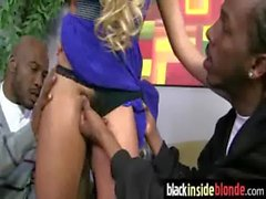 Black monster cock inside blondies tight pussy 26