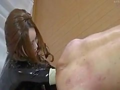 femdom rubber latex anal fisting japanese