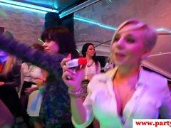 Party geek deepthroating in public