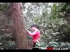 Asian Girl Fucked Outdoors