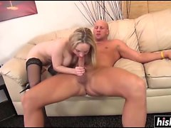 Blonde chick in stockings got fucked