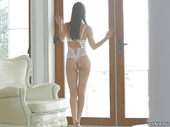 Lovely Russian ballerina has a amoral sex with a dude