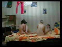 teen orgy foursome 3 girls 1 boy