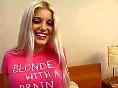 Nice blond teen casting