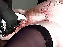 La servidumbre bastidor la Sanción de esclavos aficionados tatuada