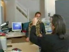 office fuck two cocks