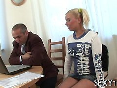Lusty joy for lewd teacher in order to pass the exams