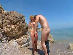 Blonde Busty Beach Babe Loving Dick Outdoors