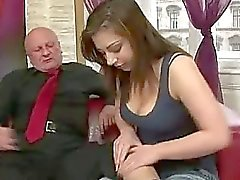 Andi gets fucked by horny grandpa