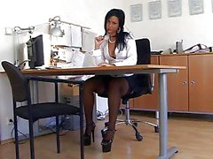 Negro de nylon Secretario Sex ( TheNylonLover )