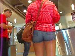 Straight Up Yummy Plumb Bun Buns In Jean Shorts
