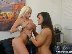 Nikita Von James Busty Lesbian Fucking