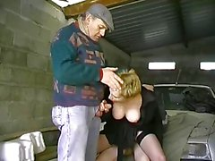 hairy blonde and 2 men