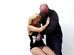 Blonde European prostitute paid for sex with amateur dude