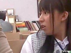 Japanese Check Vest Office Girl Masaguri