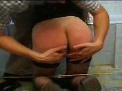 Nasty spanking lessons for slutty Monica