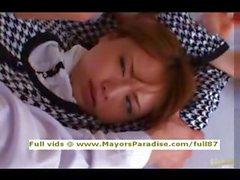 Akiho Yoshizawa innocenti ragazza Cina ottiene figa leccato