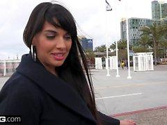 BANG Real MILFs Latina Mercedes Carrera gives a sloppy bj