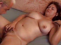 Beautiful big tits MILF Patty loves cum