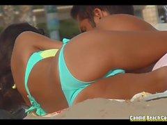 Bikini Girls Cameltoe Praia voyeur Vídeo em HD
