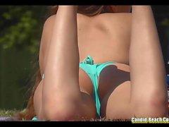 Bikini Girls Cameltoe Stranden Voyeur Särskilda HD Videons