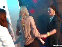 Wet party lesbians fingering