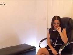 Office Domination - Your Naughty Secretary Blackmails Boss - Femdom POV JOI