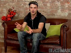 Alluring homo Stephan Black interviewed before solo wank