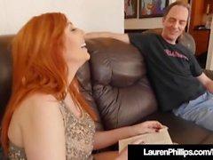 Busty Redhead Lauren Phillips Blows & Bangs Her Sex Coach!