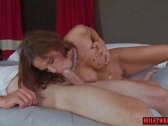 brunette milf hardcore with facial feature