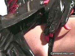 Kinky Carmen has all sorts of toys part4