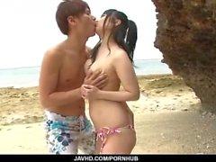 Hina Maeda ile açık hava hardcore seks zamanı