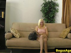 Skinny casting amateur opening legs for agent