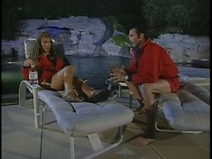 Hot lifeguard gets her pussy eaten and fucked by horny stud