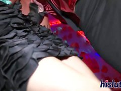 Stunning pornstars get slammed in an orgy